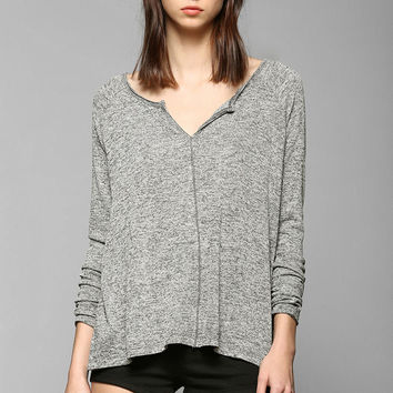 BDG Split Neck Henley Sweater - Urban Outfitters