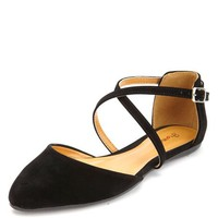 STRAPPY D'ORSAY POINTY TOE FLATS