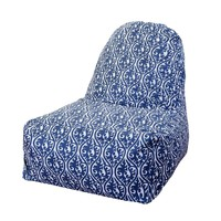 Printed Kick-It Chair - Helix - Navy Blue