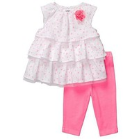 Carter&#x27;s 2-pc. Pink Neon Legging Set PINK 3 Mo