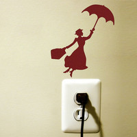 mary poppins red velvet wall sticker - kid's room wall decal (#marypoppins #walldecal #walldecor #sticker #velvet #disney)
