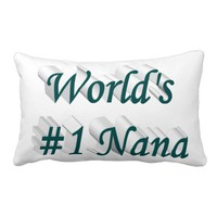 World's #1 Nana 3D Pillows, Blue-Green