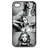 Actress Design-2 Jennifer Lawrence Print Black Case With Hard Shell Cover for Apple iPhone 4/4S
