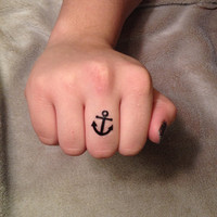 4 Tiny Anchor Temporary Tattoos - SmashTat