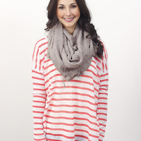 Coral Striped Top » Vertage Clothing