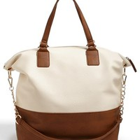Cesca Two-Tone Tote (Juniors) | Nordstrom
