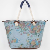 Billabong Seaside Rides Tote Bag Denim One Size For Women 21598380001