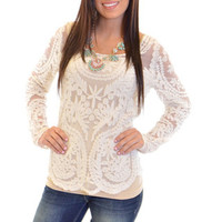 Closet Candy Boutique · Style and Lace Top Ivory