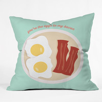 Allyson Johnson You Are The Eggs To My Bacon Throw Pillow