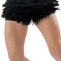 Black Fringe Dance Shorts; Balera