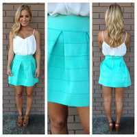 Mint Bandage Flare Skirt