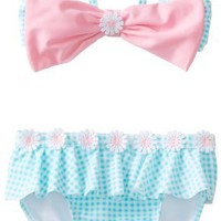 Hartstrings Baby-Girls Infant Gingham 2 Piece Swimsuit
