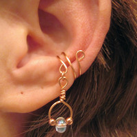 "Non Pierced ""Firelight"" Dangle Ear Cuff 1 Cuff"