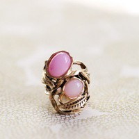 simply sweet pink stone ring