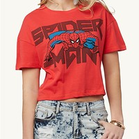 Retro Spiderman Crop Tee