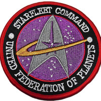 "STAR TREK The Next Generation STARFLEET Command 3 3/4"" Ufp Patch"