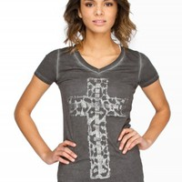 CHEETAH CROSS GRAPHIC TEE