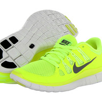 Nike Free 5.0+ Wofl Grey/Volt/Summit White/Dark Charcoal - Zappos.com Free Shipping BOTH Ways