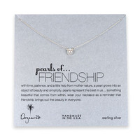 pearls of friendship white pearl necklace, sterling silver