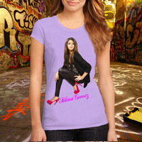 Selena Gomez T Shirt, Music T Shirt, Pop Music T Shirt Printed T Shirt, Women T Shirt, (Various Color Available)
