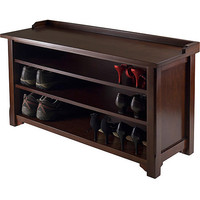 Walmart: Dayton Entryway Bench with Shoe Storage, Walnut