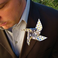 Custom Pinwheel Boutonniere/Corsage set of 3 by Rule42 by rule42