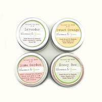 Natural Lip Balm Sampler the Whole ShaBang Honey by WinsomeGreen
