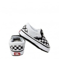 VANS BABY CLASSIC SLIP-ON CHECKERBOARD CANVAS TRAINERS