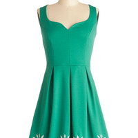 ModCloth Mid-length Tank top (2 thick straps) A-line Bright This Way Dress