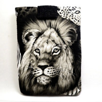 Lion's Eye Tablet Cover /Animal Lover iPad Sleeve/ Kindle Fire Sleeve/ Galaxy Cover/ Google Nexus Case/ Football iPad Case