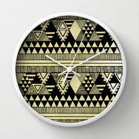 Ethnic Chic Wall Clock by Louise Machado