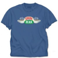 Friends Central Perk Indigo Blue Adult T-Shirt