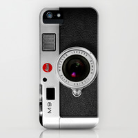 classic retro Black silver Leica M9 Leather camera apple iPhone 4 4s, 5 5s 5c, iPod & samsung galaxy s4 case