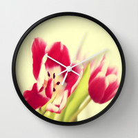 Spring - JUSTART © Wall Clock by JUSTART