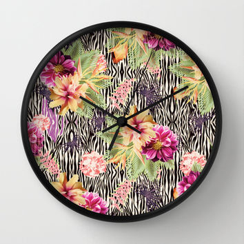 TROPICAL FUSION Wall Clock by Nika