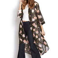 Enchanted Rose Maxi Cardigan