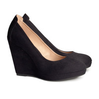 Platform court shoes - from H&M