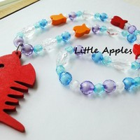 Party Favor Value Pack Children Jewelry Assorted Colors Fish Necklaces | LittleApples - Children