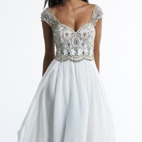 Beaded Sweetheart Gown by Dave and Johnny