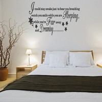 Aerosmith Lyrics WALL STICKER QUOTE ART Vinyl Kitchen Bedroom Living Decal Home