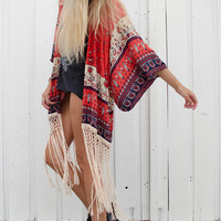 Desert Wanderer Tassel Kimono - Sunset | Spell & the Gypsy Collective