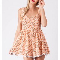 Mocha Java Cake Playsuit - Orange