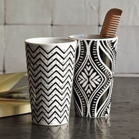 Graphic Porcelain Tumblers | west elm $8