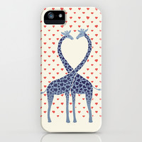 Giraffes in Love - a Valentine's Day illustration iPhone & iPod Case by micklyn
