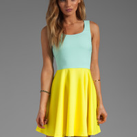 BLAQUE LABEL Dress in Blue/Yellow