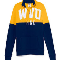 West Virginia University Colorblock Half Zip Pullover - PINK - Victoria's Secret