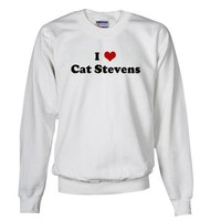 I Love Cat Stevens Humor Sweatshirt by CafePress
