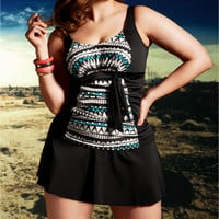 Elomi Ravana Wire-Free Tankini Swimwear Top Plus Size ES7032 at BareNecessities.com
