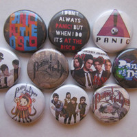 Panic! At The Disco Pinback Button Pin Badge (pack of 10)