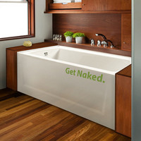 Get Naked Wall Sticker | Vinyl Impression